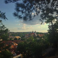 Gorgeous view of town and St. View from Žižkova mohyla. Europe, River, Explore, Landscape, Outdoor, Outdoors, Scenery, Outdoor Games, The Great Outdoors