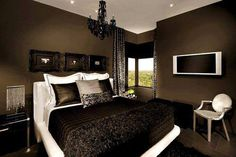 Chocolate bedroom (I'd add pink accent colors)