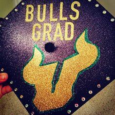 #USF grad cap by Lauren Earl!