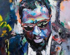 Thelonious Monk Original Painting 30 Worldwide by RichardDayStudio