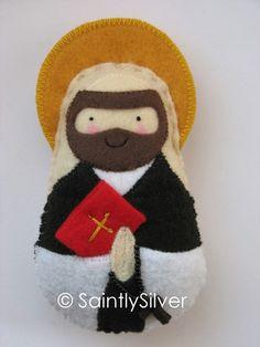 Saint Dominic Felt Saint Softie - love all these saints, so many!