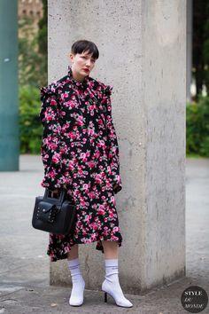 Lotta Volkova Street Style Street Fashion Streetsnaps by STYLEDUMONDE Street…
