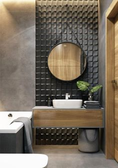 Remodel 53 Affordable Bathroom Tile Designs 18 - New Ideas - # Tile designs # remodel 53 affordable bathroom remodel tile designs 18 53 Af - Modern Bathroom Design, Bathroom Interior Design, Restroom Design, Modern Design, Bad Inspiration, Shower Remodel, Remodel Bathroom, Tub Remodel, Tile Design