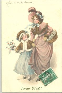 ME029 VIENNE Style NOËL MERE & FILLETTE CHAPEAU HOUX MOTHER & DAUGHTER HAT