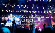 I've been on floor for Keith Urban, Jake Owen, Little Big Town, The Wanted, Martina McBride, Lady Antebellum, Jack Ingram, Midnight Red, Cassio Monroe, Nickelback, The Pretty Reckless, Luke Bryan, Demi Lovato, Nick Jonas, and Mike Posner