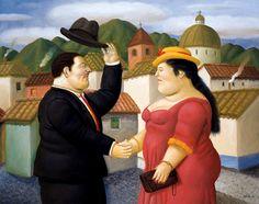 Man And Woman Artwork By Fernando Botero Oil Painting & Art Prints On Canvas For Sale Frida Diego, Victor Nizovtsev, Illustrator, Plus Size Art, Fat Art, Chef D Oeuvre, Arte Pop, Naive Art, Art For Art Sake