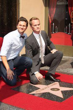 Neil Patrick Harris and David Burtka - Neil Patrick Harris Receiving Star On Hollywood Walk Of Fame
