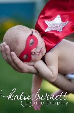 Newborn Superhero Mask - Reversible with One or Two Colors - Satin Photography Prop or Halloween Costume for Infant and Baby. $8.00, via Etsy.
