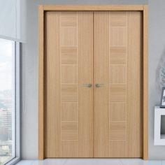 Sanrafael Lisa Flush Double Fire Door - Model K09 Reconstituted Oak Prefinished. #oakdoublefiredoors #oakdoubledoors #internaloakdoors