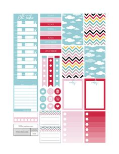 Free Printable Clear Skies Planner Stickers from Fit Life Creative