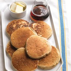 Rolled oats give these pancakes a hearty, nutty flavor. Serve them with butter and maple syrup or powdered sugar and bananas. Recipe: Cinnamon-Oat Pancakes   - Delish.com