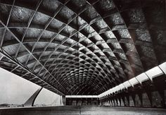 Airplane Hangar; Transportation building; creation date: 1938, destruction date: 1944; architect: Pier Luigi Nervi (Italian, 1891-1979). Former location: Orvieto (Italy).