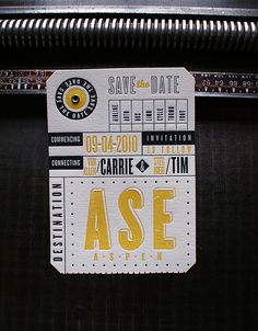 Letterpress Save the Date: Carrie & Tim by smokeproof, via Flickr