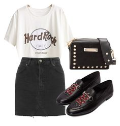 """""""Untitled #1489"""" by morggz ❤ liked on Polyvore featuring WithChic, Topshop, River Island and Gucci"""