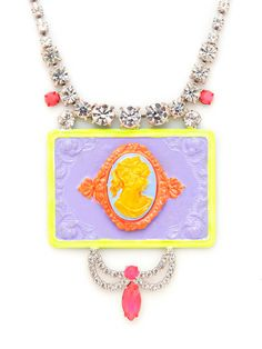 Check this out, $905.00!!! Can you believe it?  Cameo Samba Rectangle Bib Necklace by Tom Binns at Gilt