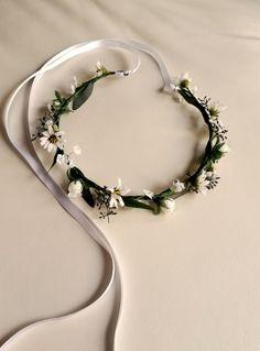 Wedding Floral Crown Hair Wreath flower girl halos by AmoreBride