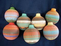 Native American Christmas Ornaments | Navajo made Christmas ornaments - or120