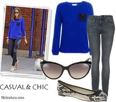Take Summer Memories Into Fall: Comfy Eye-Catching Cobalt Sweaters