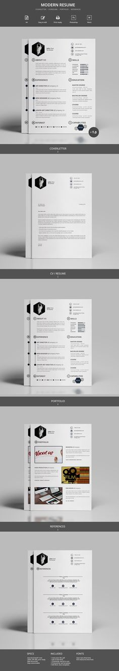 this minimal and professional cv template will help you to create