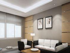 Art to the living room, inspiration - Modern-built-in-lighting-living-room-design