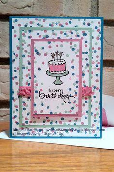 XO Stamping Studio: Happy Birthday, Brianna! - www.xostampingstudio.blogspot.com - Michelle Harrington - XO Stamping Studio - Endless Birthday Wishes - Stampin' Up!