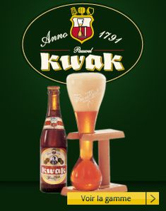 Belgian beer Kwak, with it's distinctive glass and stand. Sticking glass to head and doing Dalek Exterminate impressions in French bar tend to get confused and frightened looks - yes i have done it.