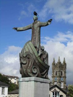 Sailing Solo: Statue of St. Brendan the Navigator, Bantry, Ireland