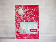 card by AgnieszkaD, using chippies and flair button from Eye 3rd Eye, Merry Xmas, My Works, Christmas Ideas, Button, Cards, Maps, Playing Cards, Buttons