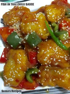 Curry And Spice Fish In Thai Chilli Sauce