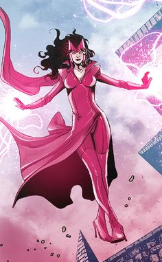 """"""" - Scarlet Witch in Avengers World, pretty cheesy line tbh but you expect no less from her. Heros Comics, Marvel Comics Art, Marvel Heroes, Captain Marvel, Jack Kirby, Uncanny Avengers, New Avengers, Female Comic Characters, Marvel Comic Character"""