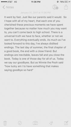 JessicaS Senior Graduation Speech From Eclipse  Random Board