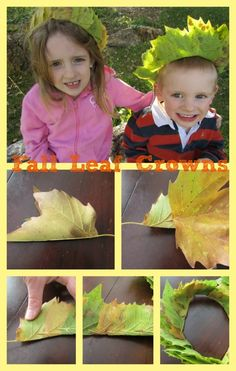 (Art) Leaf crowns | Suggested Picture Book: Wild Child by Lynn Plourde c.1999