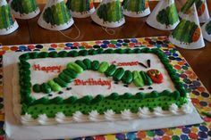 the very hungry caterpillar birthday party | Alexander Family: Connor the very hungry caterpillar!