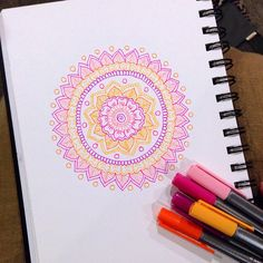 Cotton Floss Mandala by MagaMerlina on Flickr.