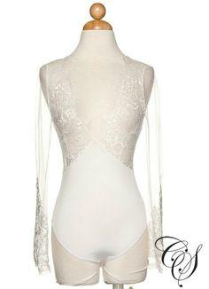 Venus Long Sleeve Sheer Lace Bodysuit, Top - Designs By Cece Symoné