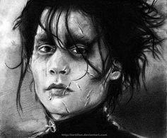 Pencil-Johnny Depp as Edward Scissorhand