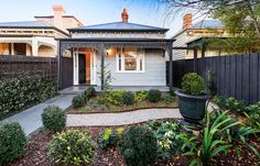 Our Malvern project perfectly balances this Century Victorian era property, combining exquisite period elegance with contemporary style - ESJAY LANDSCAPES Landscaping Melbourne, Landscaping Company, Residential Landscaping, Cute Cottage, Victorian Homes, Victorian Era, Front Steps, Dream Pools, English House