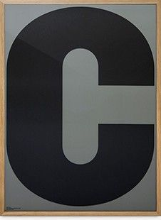 Playtype poster, C via Lotta Agaton Shop. Click on the image to see more!