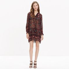 """As the daughter of archaeologists, Manhattan-born Ulla Johnson went on some incredible family vacations. Her globe-trotting childhood comes through in her thoughtful, subtly embellished designs that (surprise) also happen to be pretty great to travel in. Take this easy silk drawstring dress—it's ready to go anywhere. <ul><li>Waisted.</li><li>Falls 36"""" from shoulder.</li><li>Silk.</li><li>Dry clean.</li><li>Import.</li></ul>"""