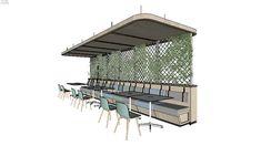 _outros | 3D Warehouse Interior Design Renderings, Office Interior Design, Office Interiors, Restaurant Exterior, Restaurant Design, Modele Sketchup, Soup Store, Sketchup Model, Restaurants