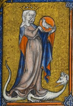 woman with bird.