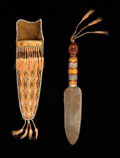 Knife and sheath, Menominee, Wisconsin, ca. 1830. NA.102.210