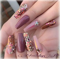 What manicure for what kind of nails? - My Nails Glam Nails, Fancy Nails, Trendy Nails, Pink Nails, Cute Nails, My Nails, Blush Nails, Glitter Nails, Fabulous Nails