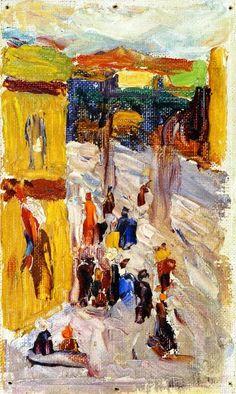 Wassily Kandinsky - Street Corner 1903