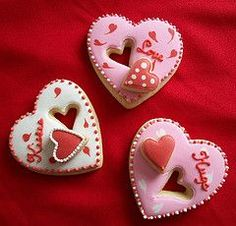 cut out heart cookie