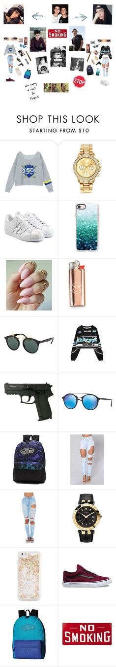 """""""Sem título #68"""" by laurafeldetonello on Polyvore featuring moda, Chicnova Fashion, Mestige, adidas Originals, Casetify, Ray-Ban, WithChic, Vans, Versace e ban.do"""
