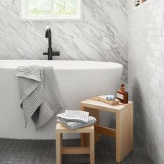 Imabari Waffle Towels – The Citizenry bath stool Imabari Waffle Towels Japanese Sauna, Japanese Bath, Bath Stool, Hinoki Wood, Wood Soap Dish, Wooden Bath, Cypress Wood, Small Stool, Luxury Towels