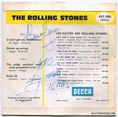 THE ROLLING STONES (Brian JONES & Keith RICHARDS) - Signatures autographes sur le 45 tours (I Can't Get No) Satisfaction #rollingstones #brianjones #keithrichards #autographe #dedicace #disque #vinyle #icantgetnosatisfaction #1967