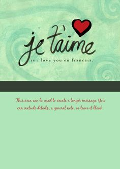 I Love You in French designed by Lisa Barbero on Celebrations.com