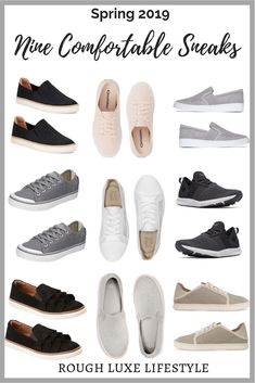 Stylish Comfortable Shoes That Don't Look Granny-Sneaks - Cindy Hattersley Design Old Lady Shoes, Travel Shoes Women, Most Comfortable Sneakers, Travel Wardrobe, Travel Outfits, Capsule Wardrobe, Travel Wear, Vacation Outfits, Travel Packing